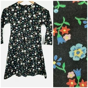 Hanna Andersson Girls Floral Long Sleeve Dress 6-7